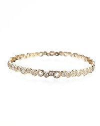Stardust 18K Gold Couture Diamond Bubble Bangle Ippolita Gold Pink