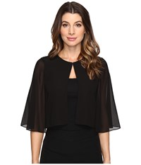 Tahari By Arthur S. Levine Sleeved Chiffon Cover Up Black Women's Clothing