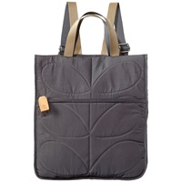 Orla Kiely Stem Little Owl Quilted Reversible Backpack Moss Grey