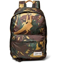 Eastpak Camouflage Print Canvas Backpack Green