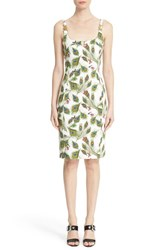 Women's Versace Collection Peacock Print Sheath Dress