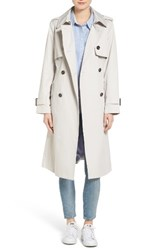 London Fog Women's Double Breasted Trench Coat Pebble