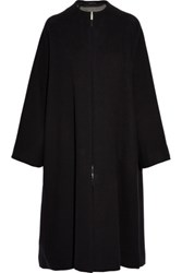 The Row Respo Cotton And Wool Blend Coat Black