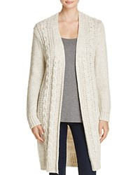 Cupcakes And Cashmere Neil Cable Knit Duster Cardigan Ivory