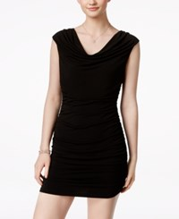 Amy Byer Bcx Ruched Body Con Beaded Dress Black Gold