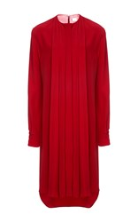 Alexis Mabille Pleated Shirt Dress Red