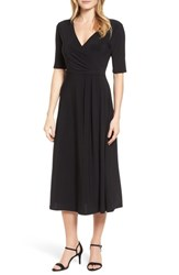 Chaus 'S Laura Faux Wrap Midi Dress 060 Rich Black
