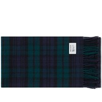 Norse Projects X Johnstons Check Scarf Green