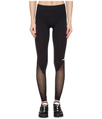 Adidas By Stella Mccartney The Seamless Mesh Tights Bs3301 Black Women's Workout