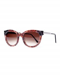 Thierry Lasry Lively Lq Cat Eye Lace Sunglasses Brown