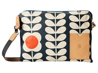 Orla Kiely Matt Laminated Tall Flower Stem Print Travel Pouch Jet Travel Pouch Black