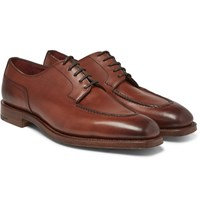 Edward Green Dover Burnished Leather Derby Shoes Tan