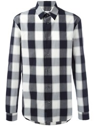 Maison Martin Margiela Checked Long Sleeve Shirt White