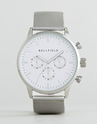 Bellfield Dial Watch With Silver Strap