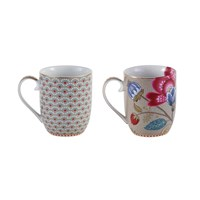 Pip Studio Khaki Mugs Set Of 2 Small