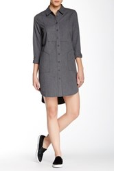 Shades Of Grey Oversized Shirt Dress Gray