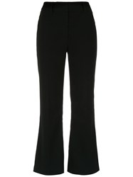Martha Medeiros Cropped Trousers Black