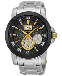 Seiko Men's Automatic Premier Kinetic Perpetual Stainless Steel Bracelet Watch 42Mm Snp129 No Color