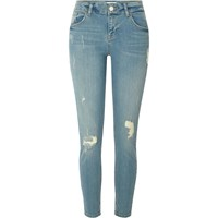River Island Womens Light Blue Ripped Relaxed Skinny Fit Jeans