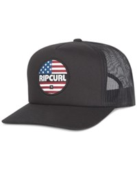 Rip Curl Men's Printed Mesh Trucker Hat Black