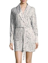 Roudelain Love Print Robe White