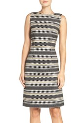 Chetta B Women's Jacquard Sheath Dress