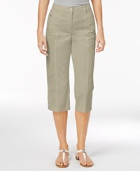 Karen Scott Cropped Button Hem Pants Only At Macy's Stonewall