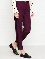 Paul Smith Ps By Piped Trousers Burgundy