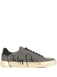 Philipp Plein Low Top Signature Sneakers Grey