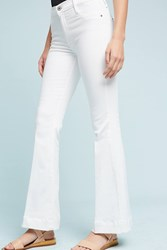 Anthropologie James Jeans Shaybel Mid Rise Flare Petite Jeans White