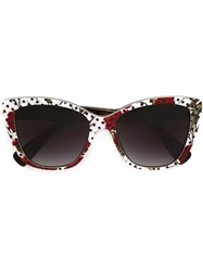 Dolce And Gabbana Carnation And Polka Dot Sunglasses