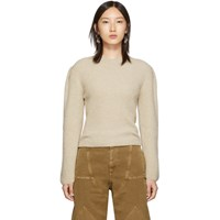 Christophe Lemaire Beige Puffy Sleeves Sweater