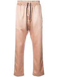 Cmmn Swdn Shimmery Buck Track Pants Nude And Neutrals