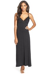 Women's Jonquil 'Nadia' Lace Racerback Knit Nightgown
