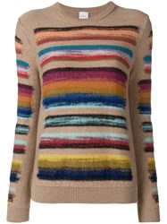 Paul Smith Black Label Rainbow Knitted Jumper Nude And Neutrals