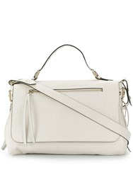 Red Valentino V Bikered Top Handle Tote White