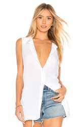 Bcbgeneration Back Lace Up Button Down Tank White