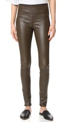Helmut Lang Stretch Leather Leggings Marsh