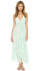 Alice Olivia Adalyn Keyhole Maxi Dress Aqua Water