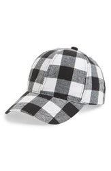 Collection Xiix Plaid Baseball Cap Black