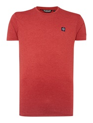 Duck And Cover Plain Crew Neck Regular Fit T Shirt Red