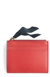 J.Crew Small Leather Zip Wallet