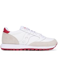 Saucony Jazz Original Sneakers Unisex Cotton Leather Rubber 4.5 White