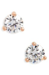 Nordstrom 0.30Ct Tw Cubic Zirconia Stud Earrings Rose Gold