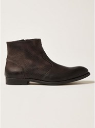 Topman Brown Tan Leather Moriarty Zip Boots