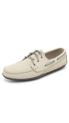 Quoddy Horween Boat Shoes Off White