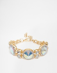 Love Rocks Crystal Ab Bracelet Gold