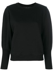 Federica Tosi Long Sleeve Fitted Sweater Black