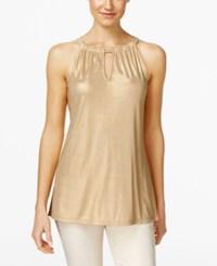Inc International Concepts Keyhole Halter Top Only At Macy's Gold