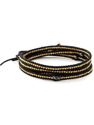 Chanluu Beaded Multi Strap Bracelet Black
